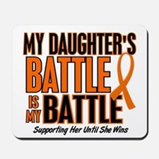 My Battle Too (Daughter) Orange Mousepad