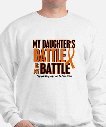 My Battle Too (Daughter) Orange Sweatshirt