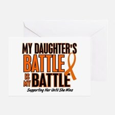 My Battle Too (Daughter) Orange Greeting Card