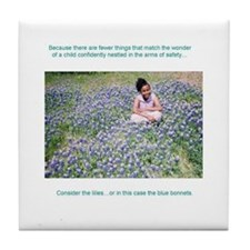 Consider the lilies...Tile Coaster