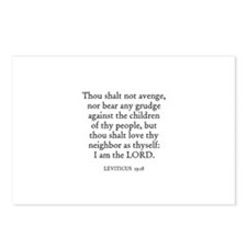 LEVITICUS  19:18 Postcards (Package of 8)
