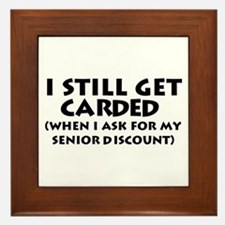 Humorous Senior Citizen Framed Tile