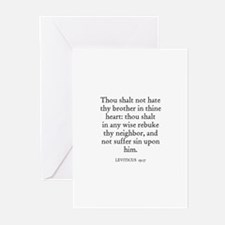 LEVITICUS  19:17 Greeting Cards (Pk of 10)