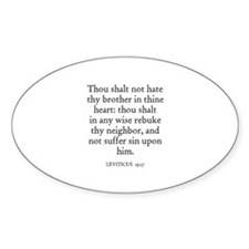 LEVITICUS 19:17 Oval Decal