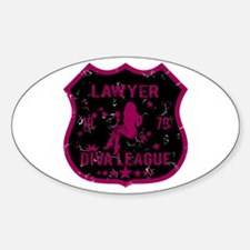 Lawyer Diva League Oval Decal