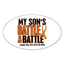 My Battle Too (Son) Orange Oval Decal