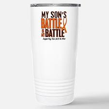 My Battle Too (Son) Orange Stainless Steel Travel