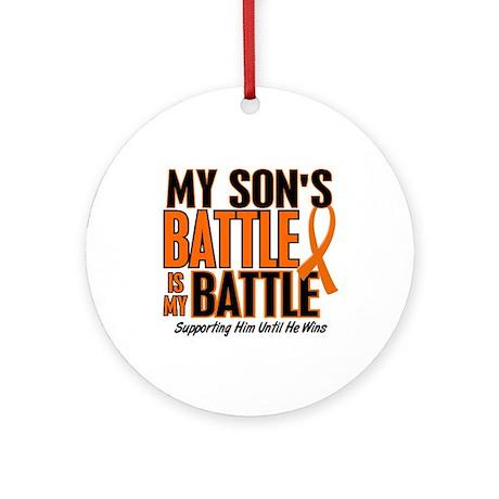 My Battle Too (Son) Orange Ornament (Round)