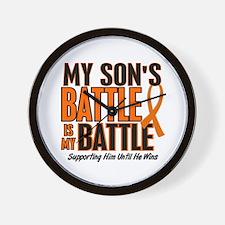 My Battle Too (Son) Orange Wall Clock