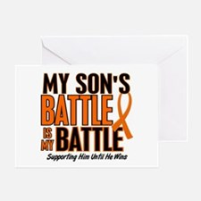 My Battle Too (Son) Orange Greeting Card