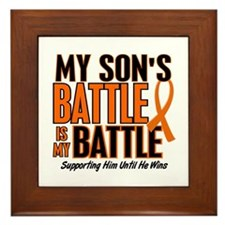 My Battle Too (Son) Orange Framed Tile
