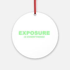 Exposure Green Ornament (Round)