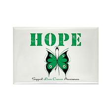 HopeButterfly LiverCancer Rectangle Magnet