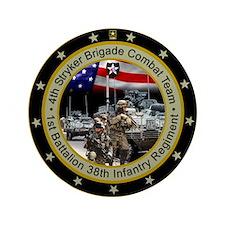"""4th Stryker Brigade 3.5"""" Button"""