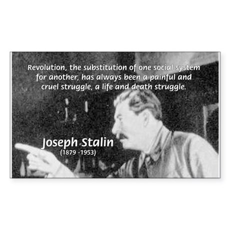 Joseph Stalin Revolution Rectangle Sticker