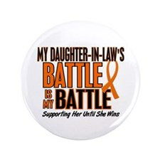 """My Battle Too (Daughter-In-Law) Orange 3.5"""" Button"""