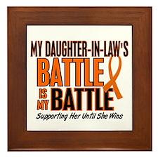 My Battle Too (Daughter-In-Law) Orange Framed Tile