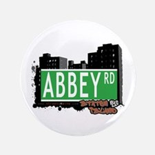 """ABBEY ROAD, STATEN ISLAND, NYC 3.5"""" Button"""