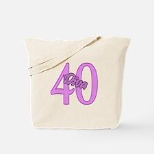 40th Birthday Diva Tote Bag