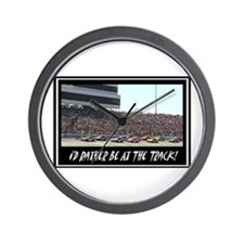 """I'd Rather Be At The Track"" Wall Clock"