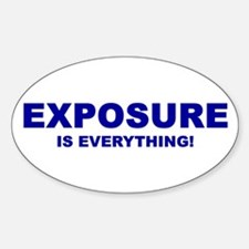 Exposure Navy Oval Decal