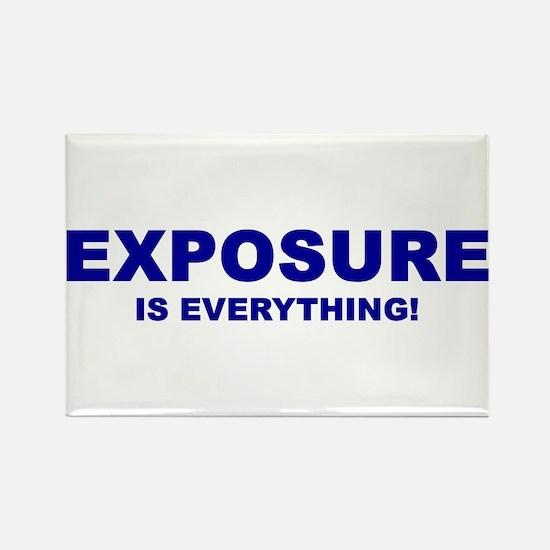Exposure Navy Rectangle Magnet