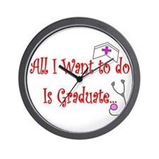 More Nursing Student Wall Clock