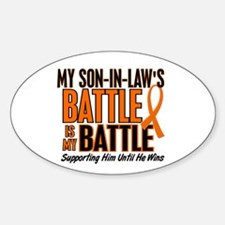 My Battle Too (Son-In-Law) Orange Oval Decal
