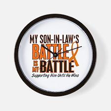 My Battle Too (Son-In-Law) Orange Wall Clock