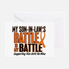 My Battle Too (Son-In-Law) Orange Greeting Card