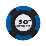 50th bday buttons Single