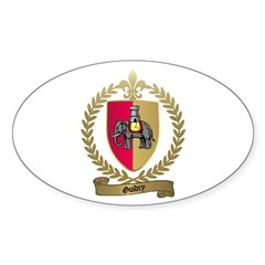 GUIDRY Family Crest Oval Decal