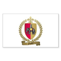 GUIDRY Family Crest Rectangle Decal
