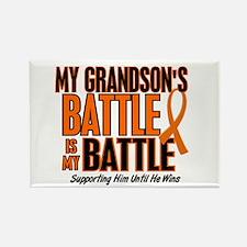 My Battle Too (Grandson) Orange Rectangle Magnet