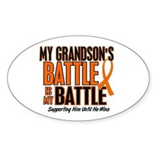 My Battle Too (Grandson) Orange Oval Decal