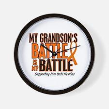 My Battle Too (Grandson) Orange Wall Clock