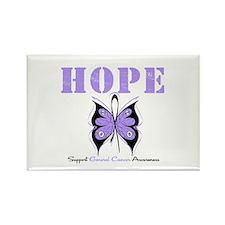 HopeButterfly GeneralCancer Rectangle Magnet