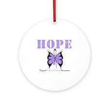 HopeButterfly GeneralCancer Ornament (Round)