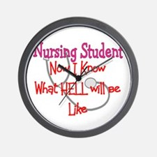 Nursing Student X Wall Clock