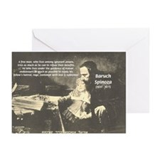 Rationalist Baruch Spinoza Greeting Cards (Package