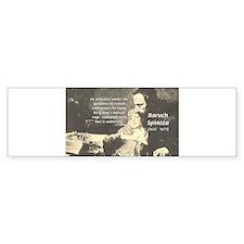 Rationalist Baruch Spinoza Bumper Bumper Sticker