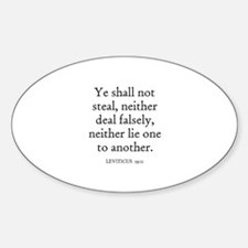 LEVITICUS 19:11 Oval Bumper Stickers