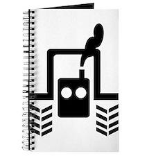 Black Farmer Tractor Logo Journal