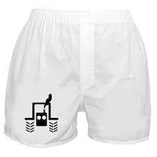 Black Farmer Tractor Logo Boxer Shorts