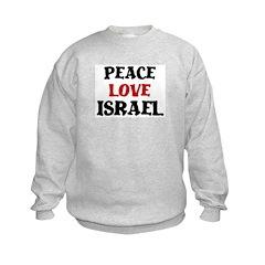 Peace Love Israel Sweatshirt