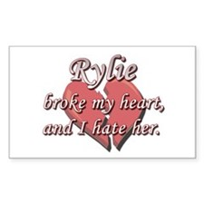 Rylie broke my heart and I hate her Decal