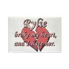 Rylie broke my heart and I hate her Rectangle Magn
