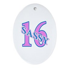 16th Birthday Girl Oval Ornament