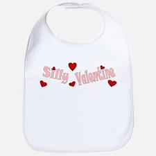 Pink Silly Valentine Hearts Bib