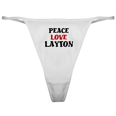 Peace Love Layton Classic Thong